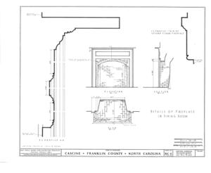 Cascine, State Route 1702, Louisburg, Franklin County, NC HABS NC,35-LOUBU.V,1- (sheet 10 of 12).png