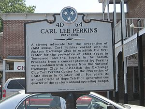 Carl Perkins - Continuation of the historic placard in tribute to Perkins