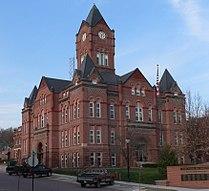 Cass County, Nebraska courthouse from SW 1.JPG
