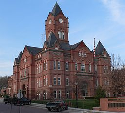 Cass County, Nebraska courthouse from SW 1.JPG