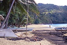 Tobago--Fil:Castara village Beach1