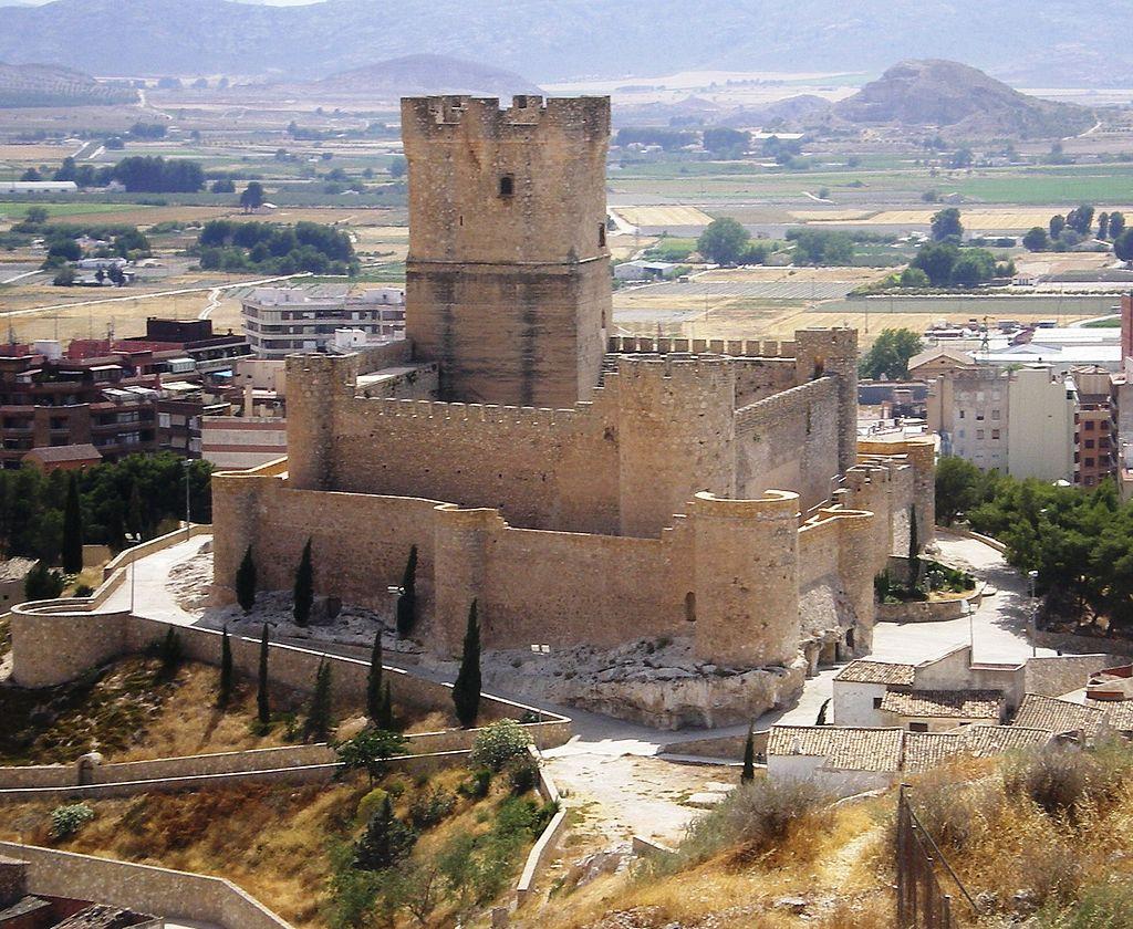 Vista del Castillo de Villena