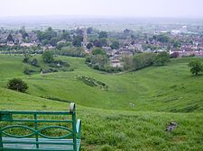 Castle Cary castle remains from Lodge Hill.jpg