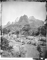 Castle Domes, Peaks from Sun Mountain to East Temple, Zion National Park. Old No. 93. R.T. Evans. - NARA - 517749.tif