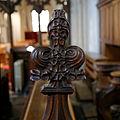 Castle Hedingham, St Nicholas' Church, Essex England, poppyhead finial.jpg