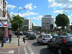 South Circular Road, London - The South Circular Road near Catford suffers from regular traffic congestion, despite being a red route.