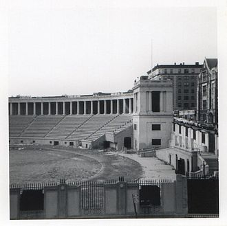 Lewisohn Stadium - Lewisohn Stadium in 1973, just before demolition