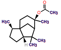Cedryl acetate structure.png