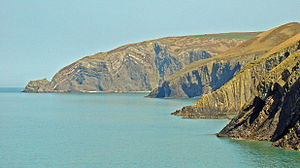 Ceibwr Bay - Cliffs of Penyrafr, viewed from Ceibwr Bay