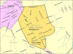 Census Bureau map of Glen Gardner, New Jersey