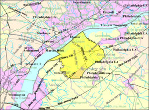 Logan Township, New Jersey - Image: Census Bureau map of Logan Township, New Jersey