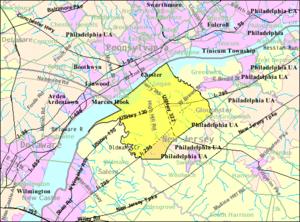 Logan Township, New Jersey - Image: Census Bureau map of Logan Township, New Jersey
