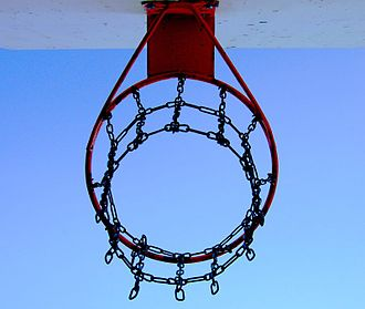 Variations of basketball - Chain-link basketball nets are widely associated with outdoor and street basketball games