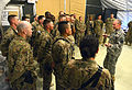 Chairman of the Joint Chiefs of Staff Gen. Martin E. Dempsey, right, talks with soldiers at Forward Operating Base Sharana in the Paktika province of Afghanistan on April 7, 2013 130407-D-V0565-009.jpg