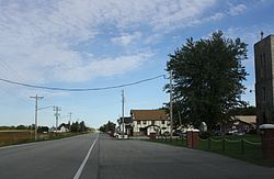 Looking east at downtown Champion