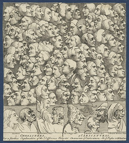 William Hogarth: Characters and caricaturas, 1743