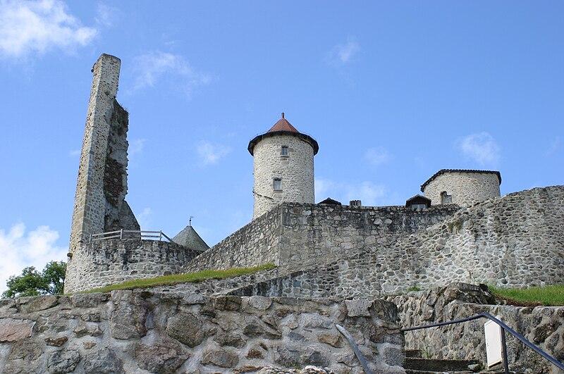 Villes et villages de charme du Cantal 800px-Chateau_de_Laroquebrou_2902