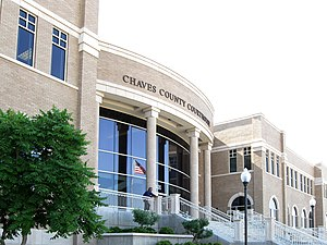 English: Chaves County (New Mexico) Court Hous...