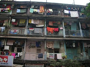 A chawl is a name for a type of building found...