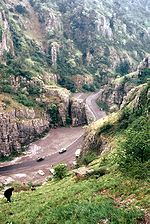 A view of the Cheddar Gorge, designated as an SSSI for both its biological and its geological interest.