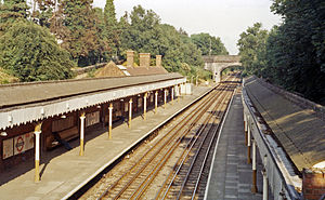 Chigwell tube station - The station in 1984