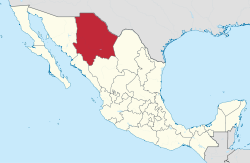 Chihuahua in Mexico (location map scheme).svg