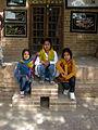 Children in Ribat-i-Abbasi of Nishapur (Hossein - Ali - Fatemeh - Hengameh and another girl - probably Afghani) 13.jpg