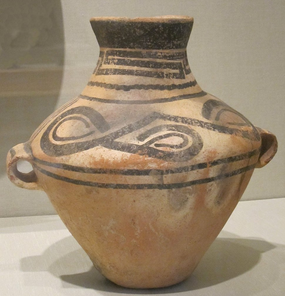Chinese jar, Neolithic period, painted earthenware, HAA