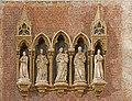 Choir of Santi Giovanni e Paolo (Venice) - Monument to Marco Corner, statues by Nino Pisano.jpg