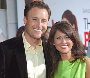 Chris Harrison and Jillian Harris at the premi...