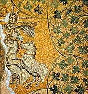 Vatican mosaic (3rd c.): Sol Invictus