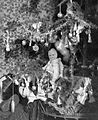 Christmas, Christmas candy, toy, toy doll, christmas tree Fortepan 4242.jpg