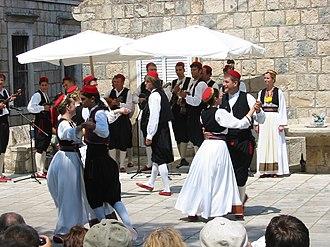 Croatian dances - Folk dancers in Čilipi (Dalmatia)