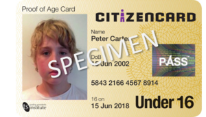 CitizenCard - CitizenCard photo ID card for under 16