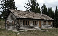 Civilian Conservation Corps cabin, Mount Spokane State Park 20130527.jpg