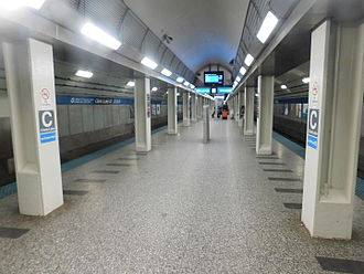 Clark/Lake station - Image: Clark Lake subway 2