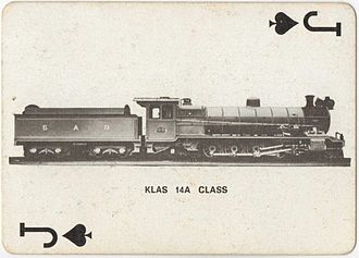 South African Class 14A 4-8-2 - Image: Class 14A 1578 (4 8 2) Playing Cards