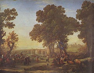 oil-on-canvas by Claude Lorrain