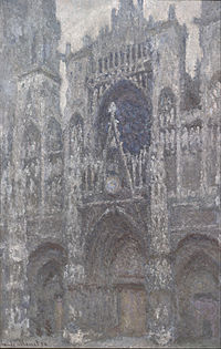 Claude Monet - The Cathedral in Rouen. The portal, Grey Weather - Google Art Project.jpg