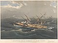 Clipper Ship Comet of New York in a hurricane off Bermuda on her voyage from New York to San Francisco, Octr 1852 RMG PY8536.jpg