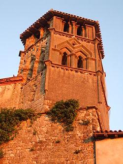 Clocher de l'église de Saint-Ybars.jpg