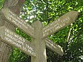 Close-up of long distance sign post in Snipe Wood - geograph.org.uk - 1409128.jpg