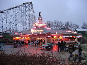 Mamba (roller coaster) - Image: Coasters restaurant Worlds of Fun