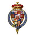 Coat of Arms of Richard of York, 3rd Duke of York, KG.png