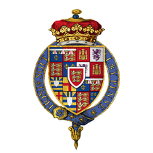 Coat of Arms of Richard of York, 3rd Duke of York, KG.png