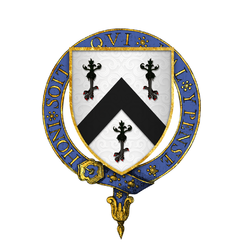 Coat of arms of Sir Reginald Bray, KG.png