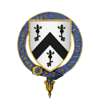 Reginald Bray - Arms of Sir Reginald Bray, KG: Argent, a chevron between three eagle's legs erased sable