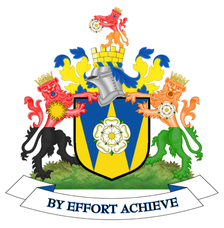 The coat of arms of the former West Yorkshire County Council Coat of arms of West Yorkshire County Council.png
