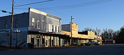 Downtown Coffeeville along Front Street