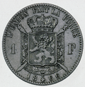 Coin BE 1F Leopold II shield rev FR 25.png